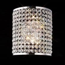 Satin/Polished Chrome Crystal/Teardrop Wall Lights