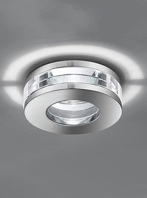 Spa 3 -Decorative Chrome Low Voltage IP65 Shower/Bathroom Downlight with a Heavy Round Crystal Glass