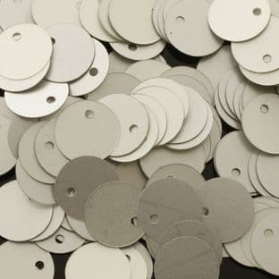 10mm Satin Silver Flat Round Sequins
