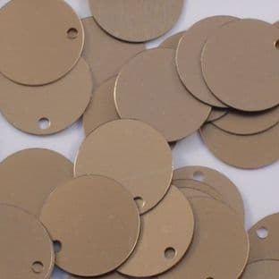 15mm Flat Round Satin Gold Sequins x 100