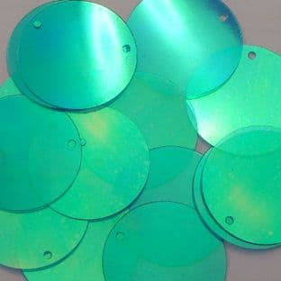 20mm Iridescent Blue Green x 100