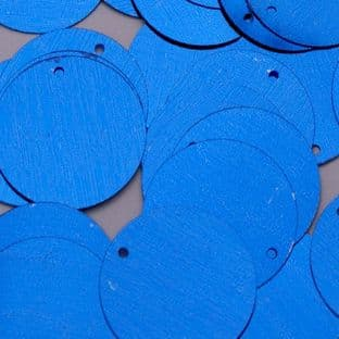 25mm Metallic Blue Penny Sequins x 100