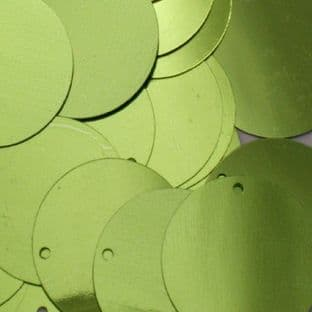 25mm Metallic Lime Green Penny Sequins x 100