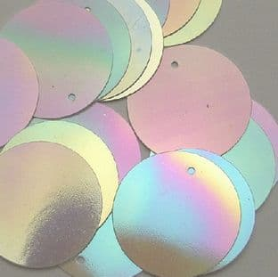 25mm Mother of Pearl Effect Pearlescent Penny Sequins x 100