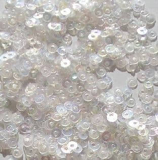 3mm Flat Round Sequins.  Silky Clear x 5g