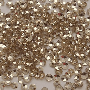 3mm Gold Metallic Cupped Sequins x 10g