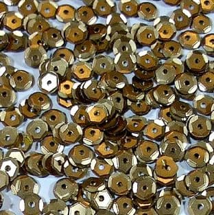 5mm Satin Gold Semi-cupped Sequins x 12.5g