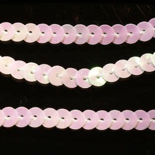 6mm Strung Sequins. Mother of Pearl Effect x 5 metres
