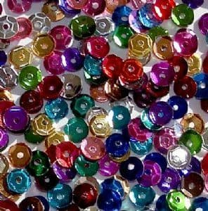 8mm Mixed Metallic Semi-cupped Sequins x 20g