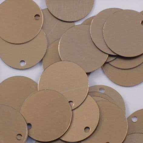 Bulk Bag 15mm Flat Round Satin Gold Sequins x 100g