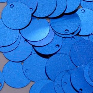 Bulk Bag 15mm Metallic Blue Flat Round Sequins x 100g