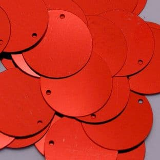 Bulk Bag 40mm Metallic Red Penny Sequins x 250