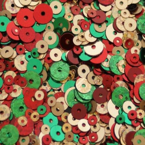 Christmas Colours Mixed Sequin  x 20g