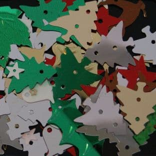 Christmas Shapes Sequin Mix x 20g