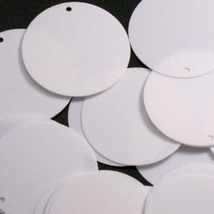 Extra Large 40mm Glossy White Sequins x 40