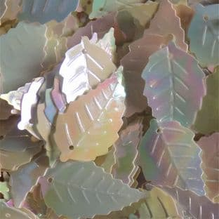 Large 25mm Mother of Pearl Effect Leaf Sequins x 150