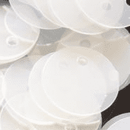 Large 25mm Semi - Transparent (White) Penny Sequins x 100