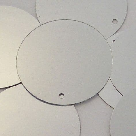 Large 30mm Metallic Silver Disc Sequins x 100