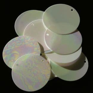 Large 30mm Mother of Pearl Effect Iridescent Disc Sequins x 100