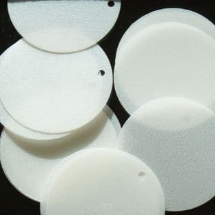 Large 30mm Satin White Disc Sequins x 100