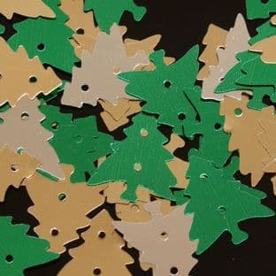 Mixed Metallic Christmas Tree Sequins x 100