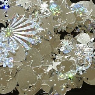OFFER Mixed Silver Coloured Sequins x 20g BUY 1 GET 1 FREE