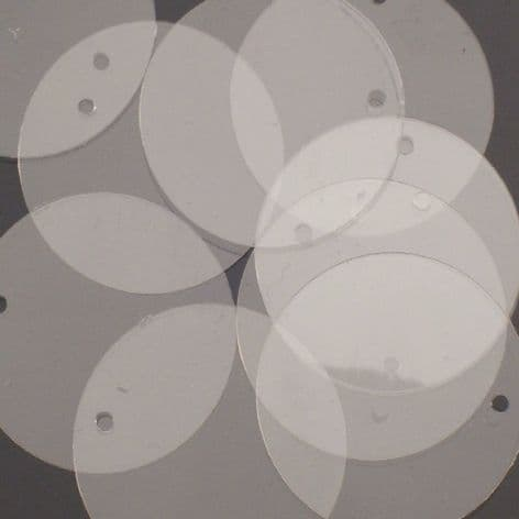 Value Pack 20mm Crystal Clear Flat Round Disc Sequins x 500
