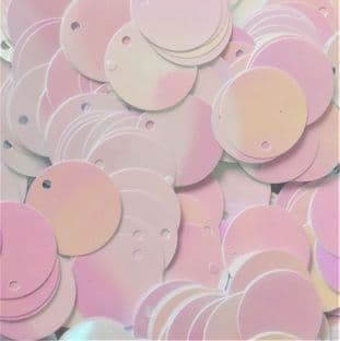 Value Pack 20mm  Iridescent White Flat Round Sequins x 500