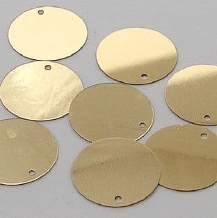 Value Pack  20mm Metallic Gold Flat Round Disc Sequins x 500
