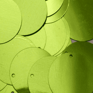 Value Pack 20mm Metallic Lime Green Flat Sequins x 500