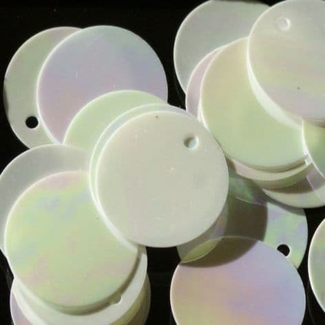 Value Pack 20mm Mother of Pearl Effect  Flat Round Sequins x 500