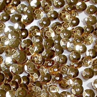 Value Pack 50g 5mm Metallic Gold Semi-cupped Sequins
