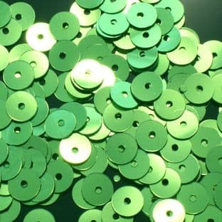 Value Pack 6mm Metallic Lime Green Flat Round Sequins x 50g