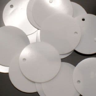 Value Pack Large 30mm Glossy White Sequins x 500
