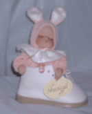 Baby in a Shoe Bootie Musical Ornament Girl Pink