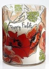 Blooms 16oz Sleeve Wrapped Glass Jar Poppy Field Floral Fragrance Candle Collection
