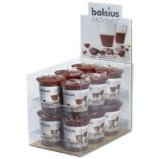 Bolsius Aromatic Votive Mushroom Candles Scented Votives Cappuccino Fragrance Pack 12