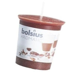 Bolsius Aromatic Votive Mushroom Candles Scented Votives Cappuccino Fragrance Pack of 1
