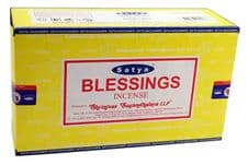 Incense Sticks Satya Nag Champa Blessings Hand Rolled Masala Incense Sticks 15g box