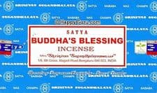 Incense Sticks Satya Nag Champa Buddhas Blessing Hand Rolled Masala Incense Sticks 15g box