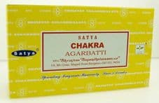 Incense Sticks Satya Nag Champa Chakra Hand Rolled Masala Incense Sticks 15g box
