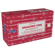 Incense Sticks Satya Nag Champa Dragons Fire Hand Rolled Masala Incense Sticks 15g box