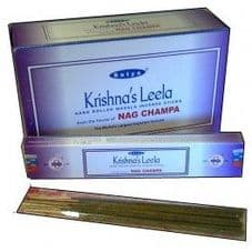 Incense Sticks Satya Nag Champa Krishnas Leela Hand Rolled Masala Incense Sticks 15g box
