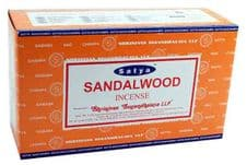 Incense Sticks Satya Nag Champa Sandalwood Hand Rolled Masala Incense Sticks 15g x 1 box