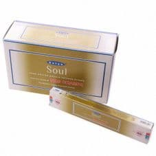 Incense Sticks Satya Nag Champa Soul Hand Rolled Masala Incense Sticks 15g x 12 boxes