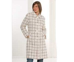 Ladies Boucle Single Breasted Cream Winter Coat Size 12 or 14