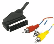 Lloytron A490 Scart Plug to 3 RCA Phono 1.5 Metre Cable