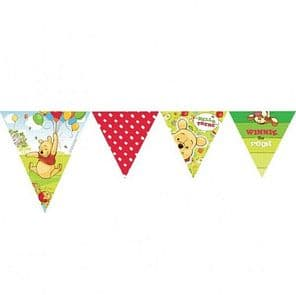 Winnie the Pooh Disney Party tableware theme plastic Pennant Banner 3 metre