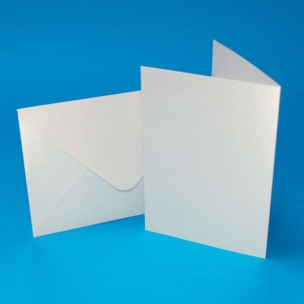 20 Craft UK A6 Pearlescent Card Blanks White