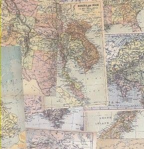 A4 Crafthouse Press Vintage Maps